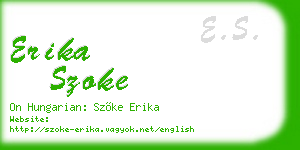 erika szoke business card